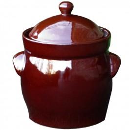 Syrningskruka ZCB Bullig 10 liter Rödbrun