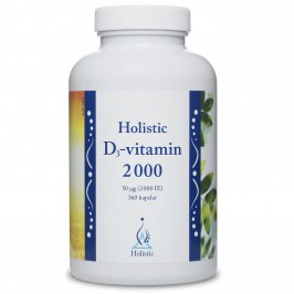 D3-vitamin 2000 IE 360 kapslar Holistic