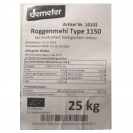 Rågmjöl Typ 1150 Demeter 25 kg