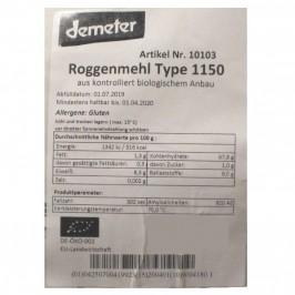 Rågmjöl Typ 1150 Demeter