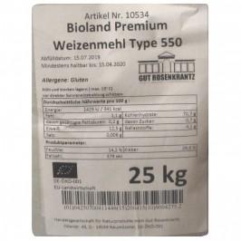 Vetemjöl Typ 550 Bioland Premium 25 kg