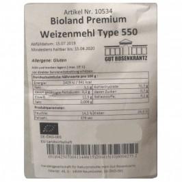 Vetemjöl Typ 550 Bioland Premium