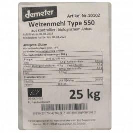 Vetemjöl Typ 550 Demeter 25 kg